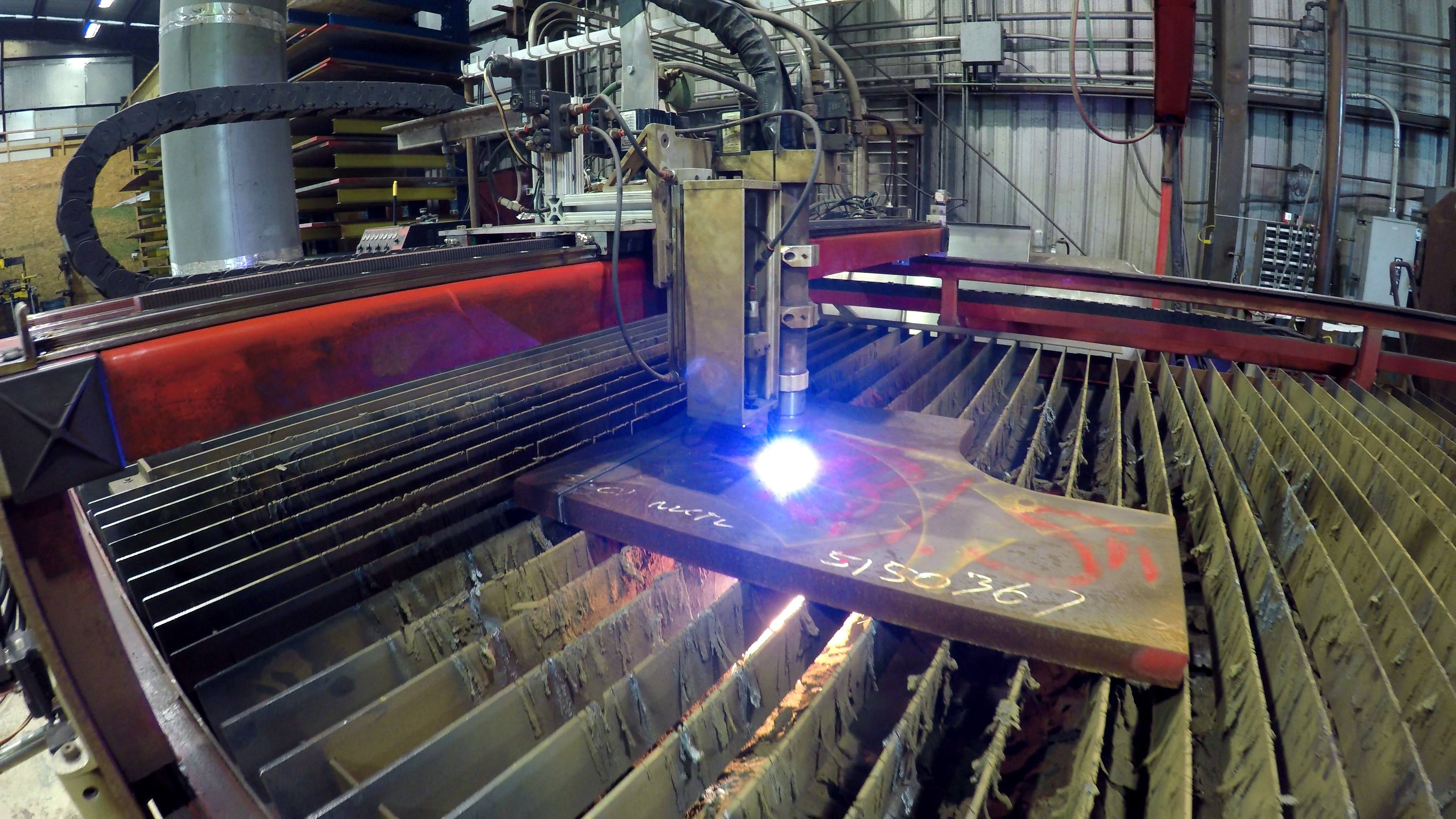 "1.5"" carbon steel plasma cutting"
