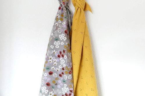 Pack 2 XL. Flower-bordado