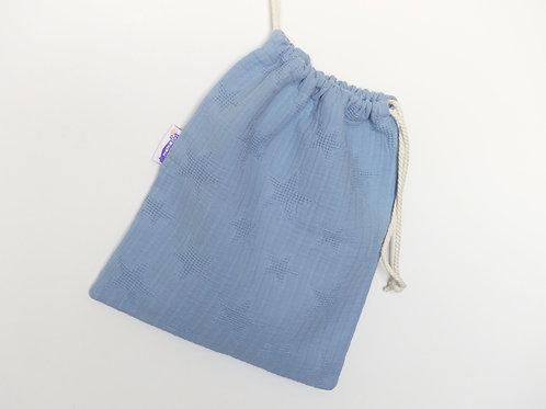 Bolsa con interior impermeable estrellas azul