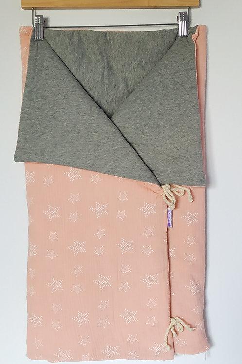 Saco de capazo ligero estrellas rosa