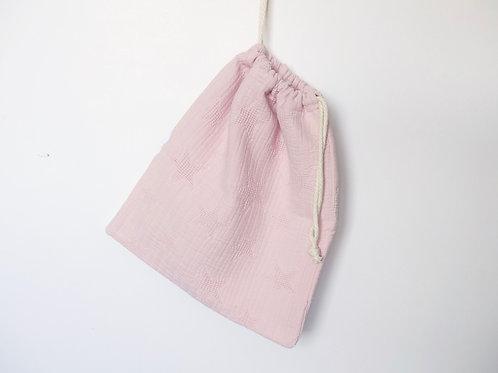 Bolsa con interior impermeable estrellas rosa