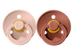 2 CHUPETES BIBS. Colours Blush/Woodchuck