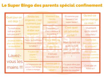 3 Supers Bingos : Parents, Enfants et Gordon - Spécial confinement !
