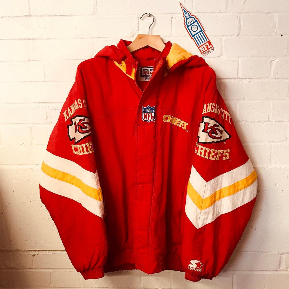 eaf85cfa Kansas City Chiefs: 1990's Full Zip Pro Line Starter (L)