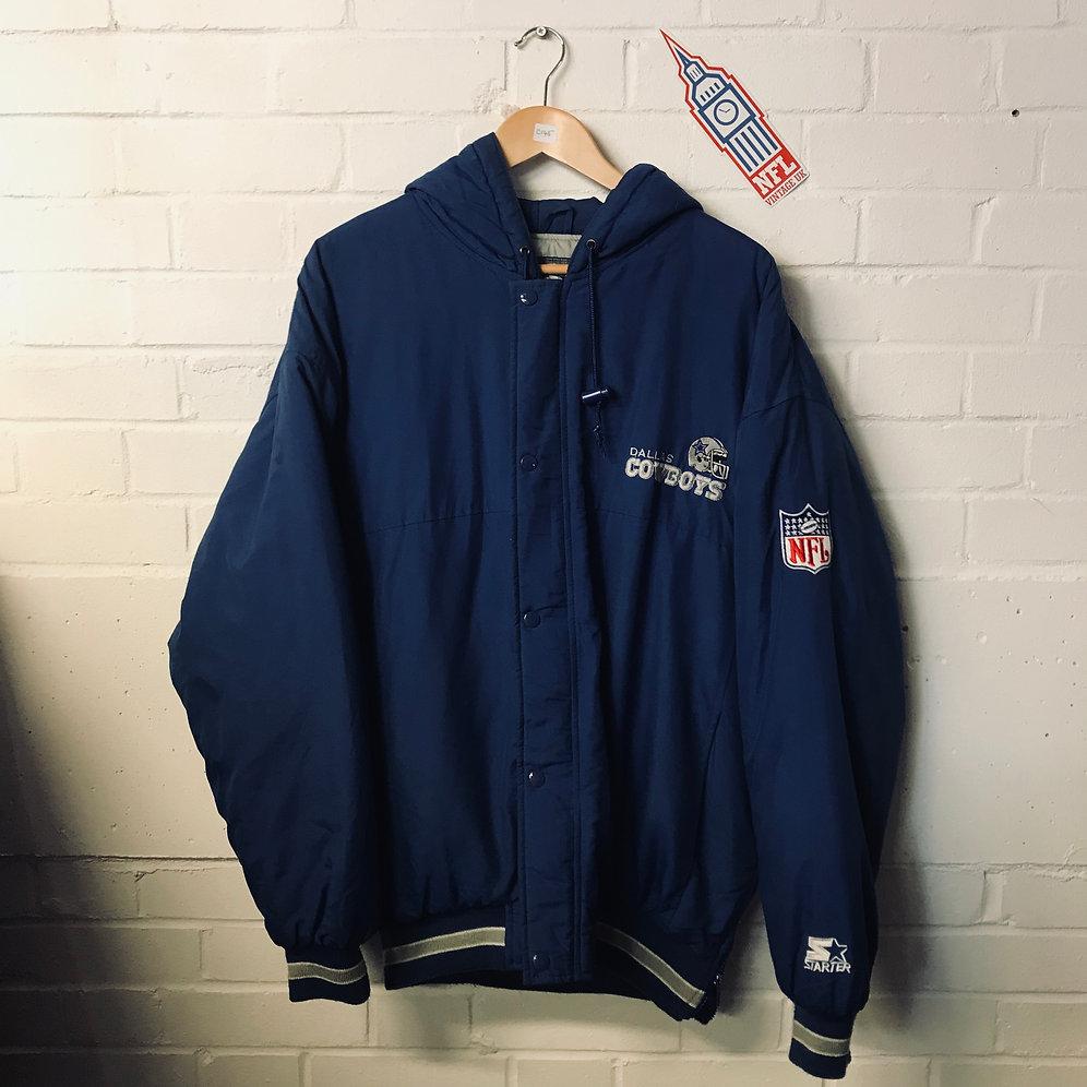 the latest 7e639 32955 Dallas Cowboys - 1990s Full Zip Starter Jacket (L) | NFL Vintage UK