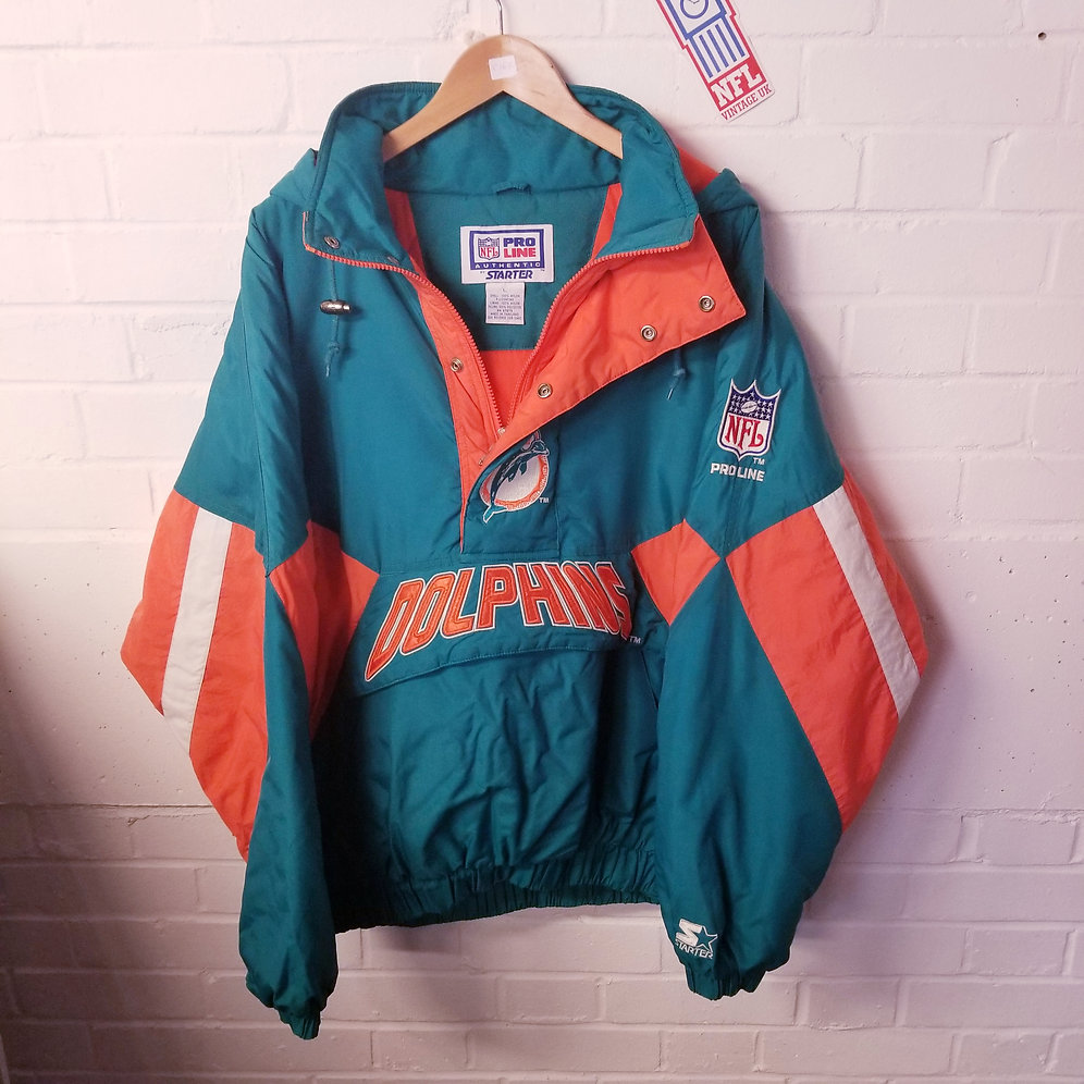 competitive price 79fcd 05da8 Miami Dolphins - 1990s Starter 1/4 Zip Jacket (L)