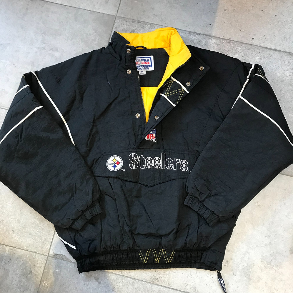 the latest 5aa63 1569b Pittsburgh Steelers - 1990s Starter 1/4 Zip Jacket (M)