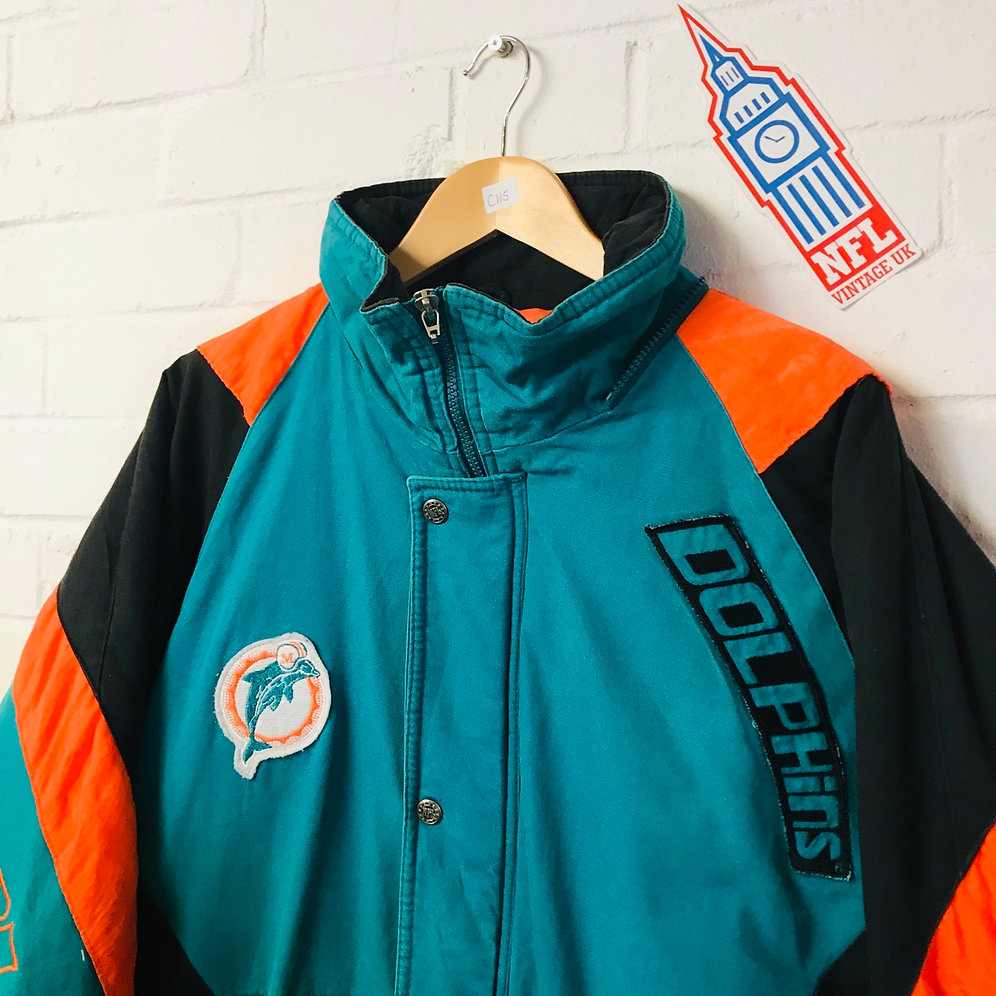 a4558459271 Miami Dolphins - 1990's Triple Fat Goose Full Zip Coach's Jacket (L)