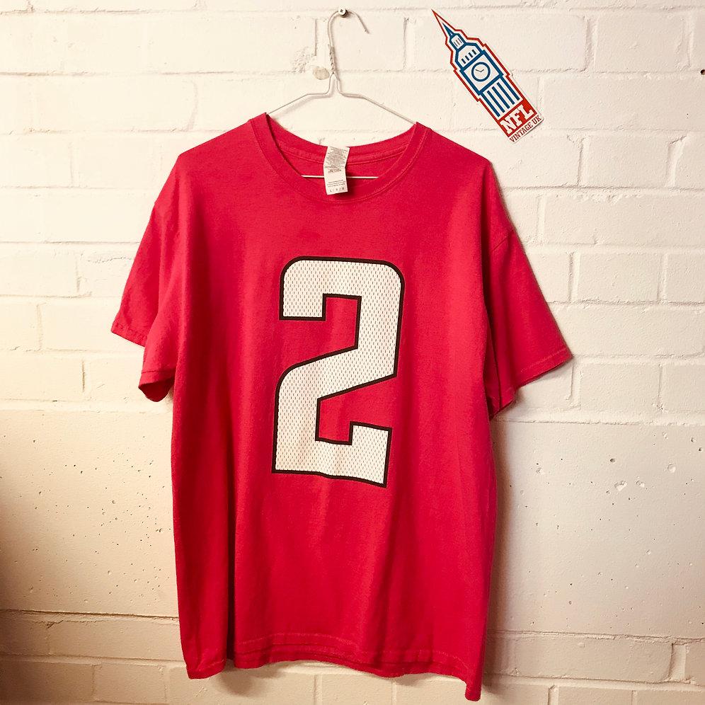size 40 648bd 56561 Atlanta Falcons - Matt Ryan Breast Cancer Awareness Month Tee (L)   NFL  Vintage UK