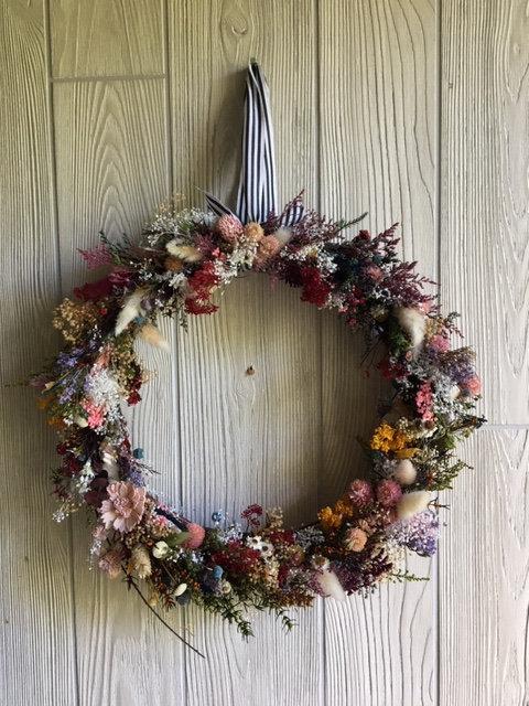 Flower Field Wreath