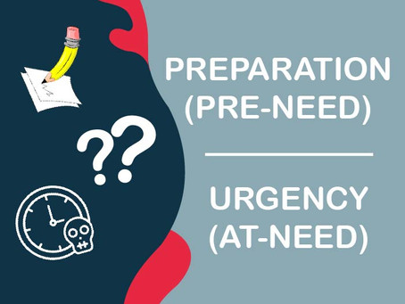 Being Prepared over Sense of Urgency: Which is better?