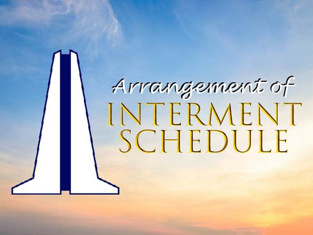 HOW TO ARRANGE AN INTERMENT SCHEDULE