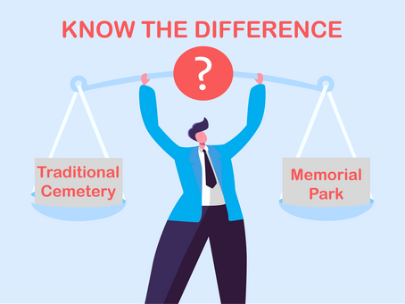 Difference of Memorial Park and Cemetery