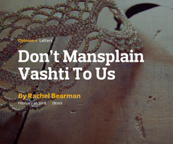 Don't Mansplain Vashti To Us