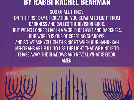 A Prayer for Light on Hanukkah Filled With Shadows