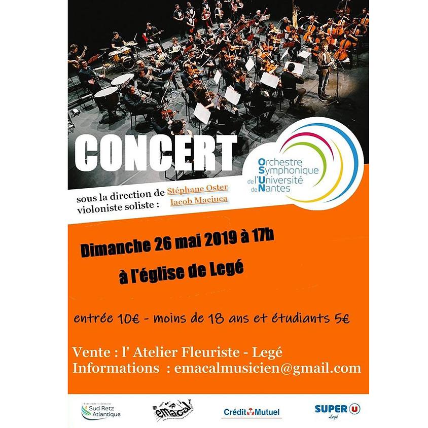 Concert OSUN - Eglise de Legé - 26 Mai