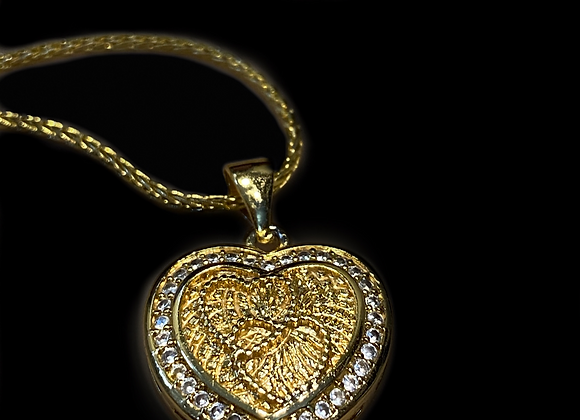 Two Hearts in One Necklace