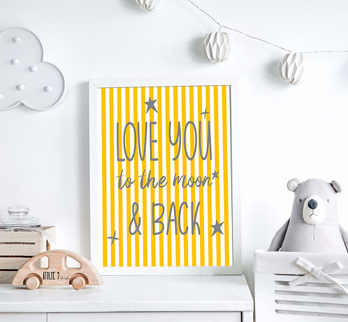 Love You to the Moon Poster ÇO011