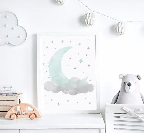 Moon / Mavi Seri Poster ÇO019