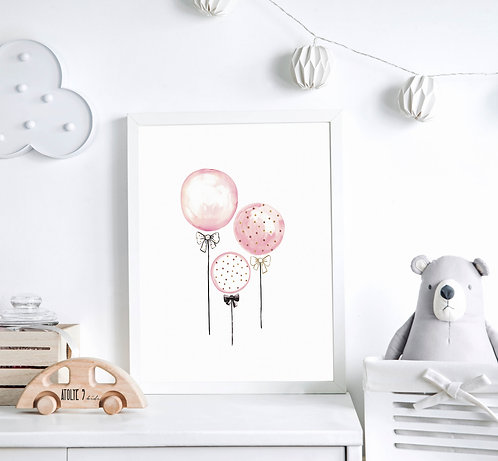 Pembe Balonlar Poster ÇO029