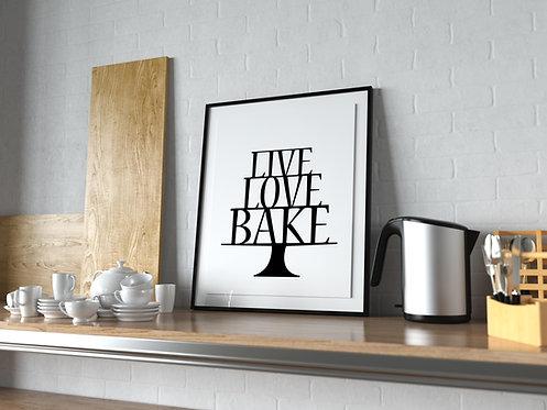 Live Love Bake Poster MP0028