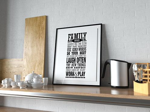 Family Rules Poster MP0033