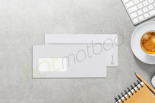 PENCERELİ DİPLOMAT ZARF (10.5 X 24 cm) Açmatik Silikonlu