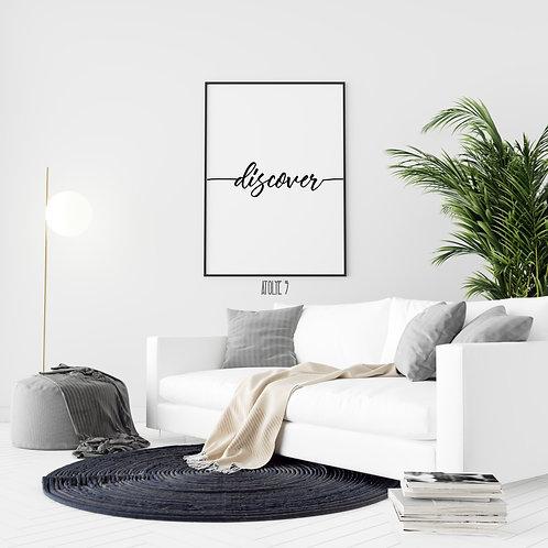 Discover Yazılı/ Motto Poster