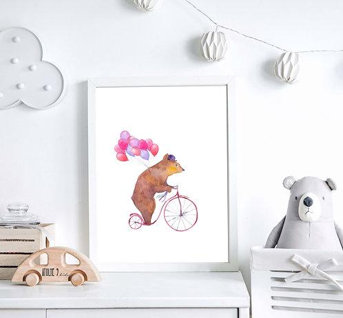 Bear / Animal Seri Poster ÇO021
