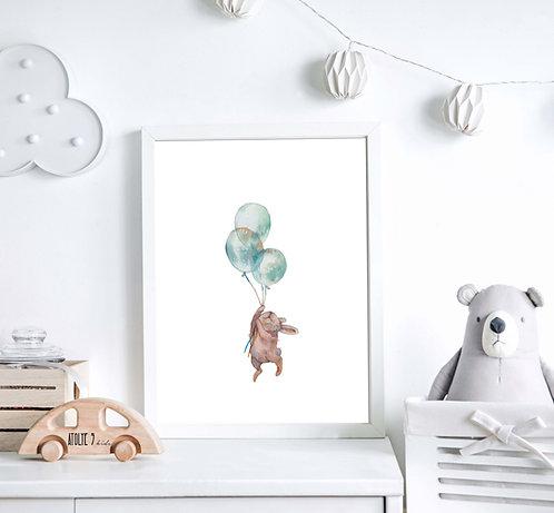 Rabbit / Animal Seri Poster ÇO024