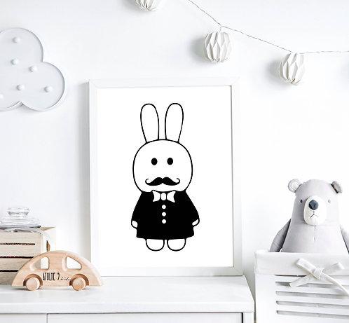 Bıyıklı Tavşan Poster ÇO006