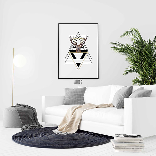 Geometrik Geyik Posteri