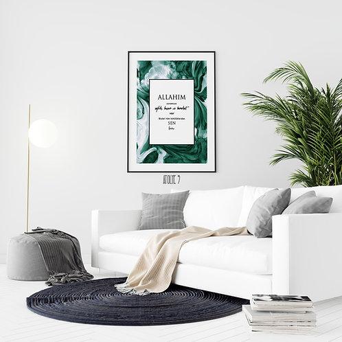 Dua/ Yeşil Agate Arka Plan