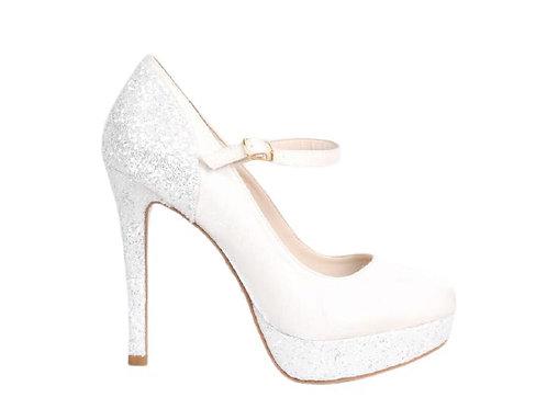 Sapato de Noiva Cetim Meia Pata