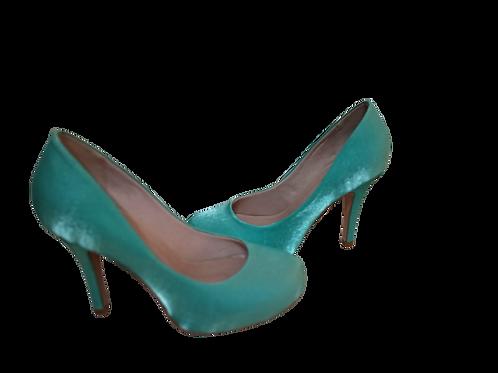 Sapato de Festa Verde Tiffany