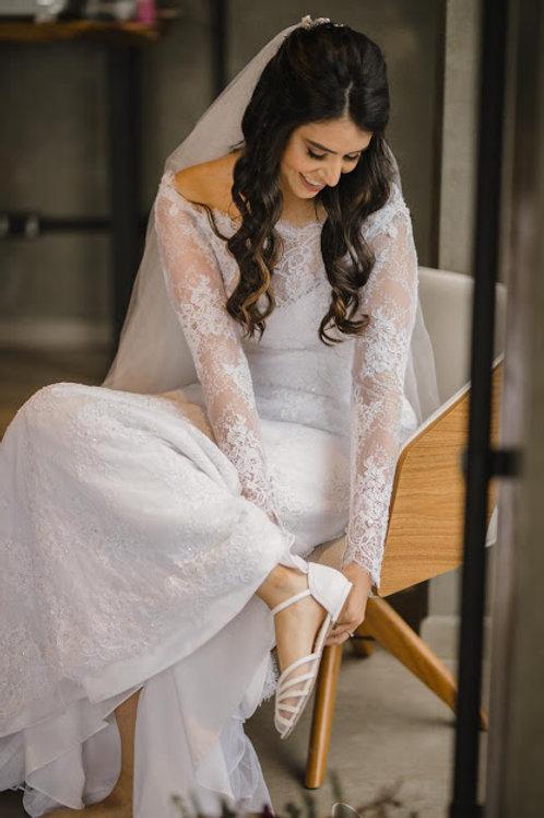 Sapatilha de Noiva Branca