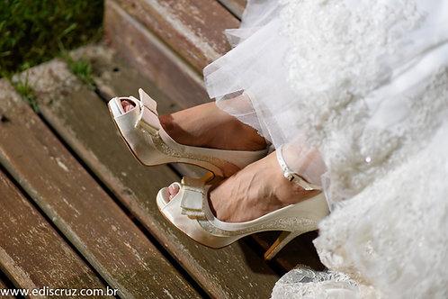 Peep Toe de Noiva OffWhite