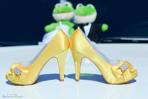 Peep Toe Noiva Amarelo