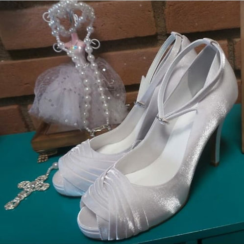 Sapato de noiva Branco salto confortável
