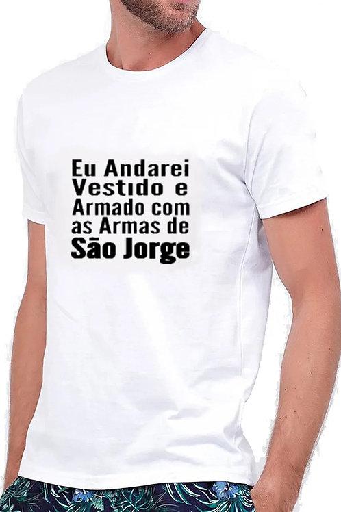 Camiseta Masculina Manga Curta São Jorge Guerreiro