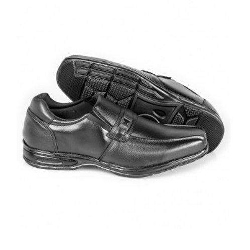 Sapato Social Couro Comfort Air Spot Masculino - Preto
