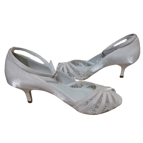 Peep Toe de Noiva Salto Baixo