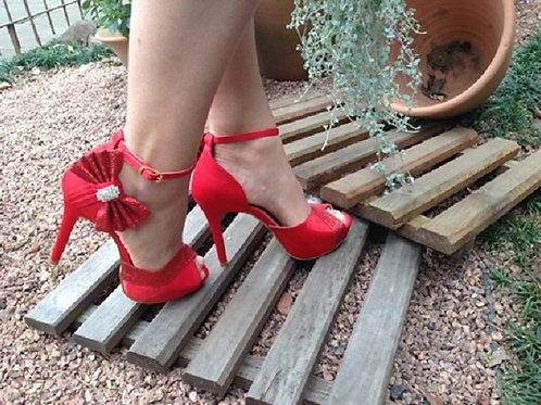 Sandália de Festa Vermelha