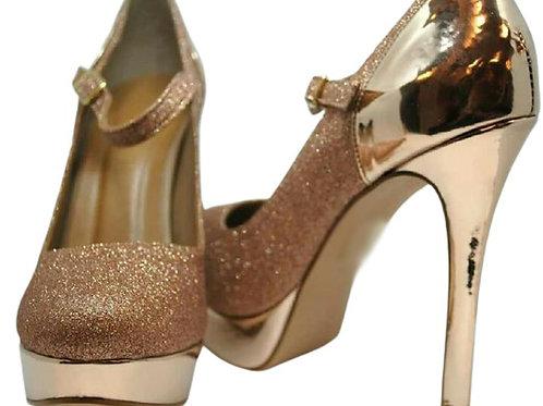 Sapato Boneca Meia Pata Glitter