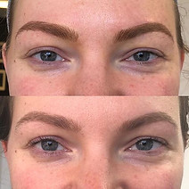Eyebrow tattooing will fade up to 50% the first week. A second appointment is scheduled to adjust shape, color, and depth where needed.