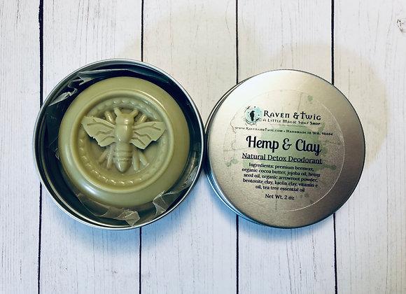 Hemp & Clay - Natural Detox Deodorant