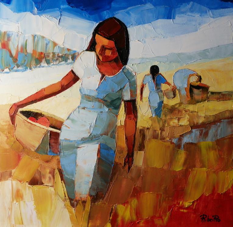 Femmes aux champs   55x46   Vendu