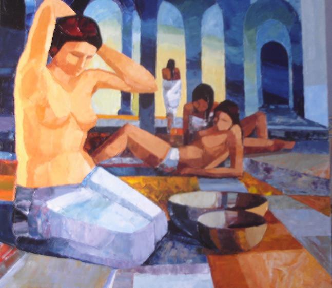 Femmes au hammam   81x65   Vendu