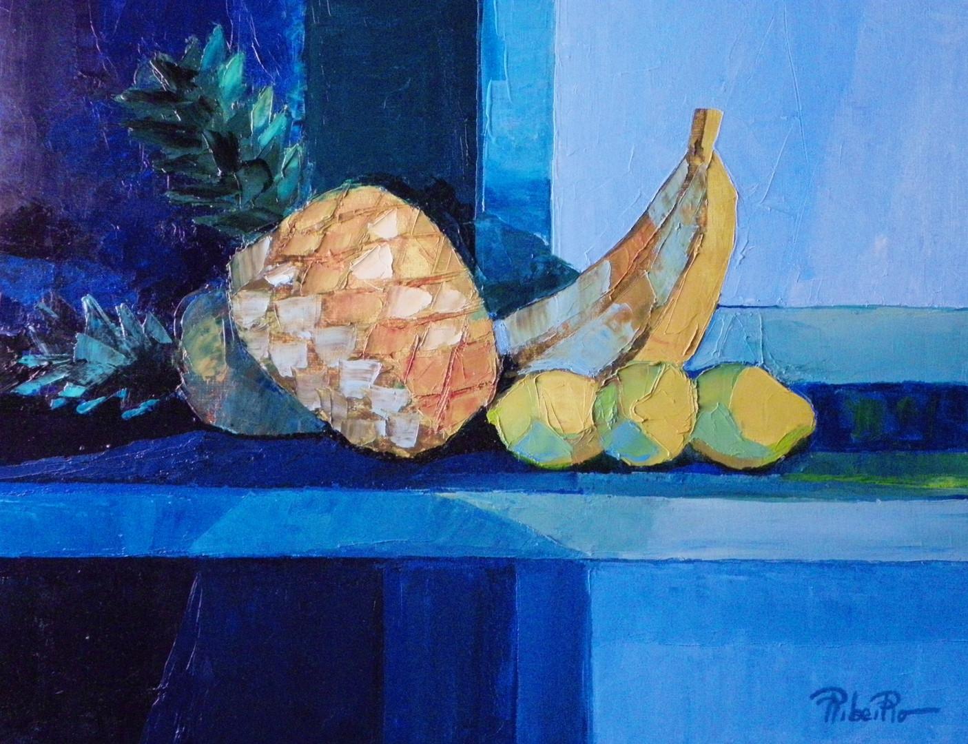 Nature morte à l'ananas  61x50   1200€