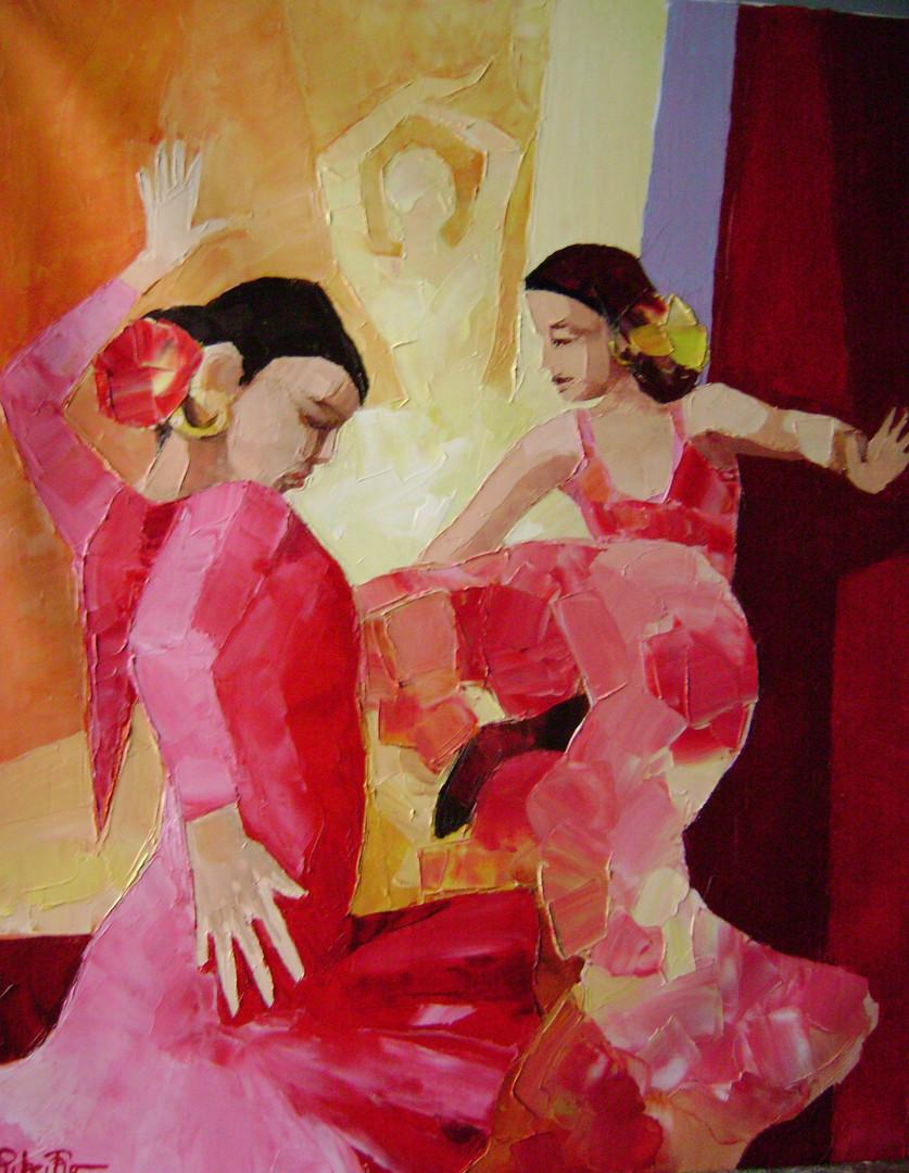 Flamenco  81x65   Vendu